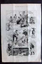 ILN 1880 Antique Print. Sketches in the American Far West. Colorado Kansas